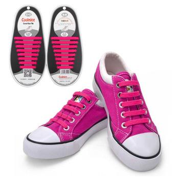 1Set/16Pcs Shoelaces Novelty No Tie Shoelaces Unisex Elastic Silicone Shoe Laces For Men Women All Sneakers Fit Strap