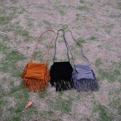 Wholesale Blanks PU Faux Leather and Faux Suede Shoulder Bag with Tassel Fashion Cross Body Bag Women Messenger Bag DOM1038010(China (Mainland))