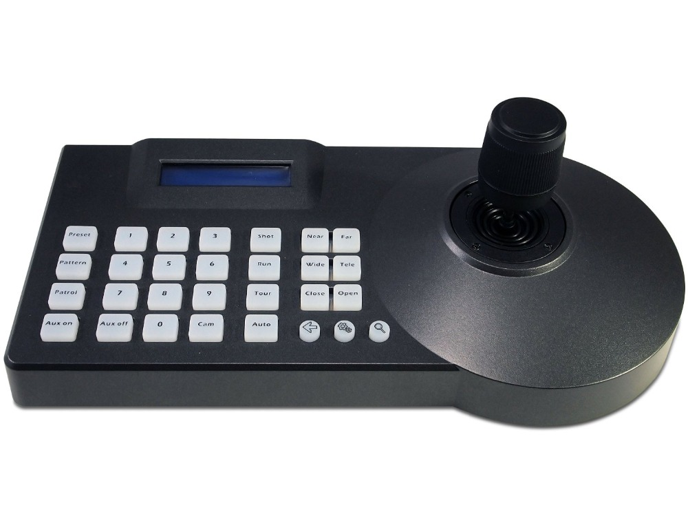 PTZ Controller with 3D (Pan Tilt Zoom) High Quality Joystick LCD Display Keyboard Controller Connects up to 255(China (Mainland))