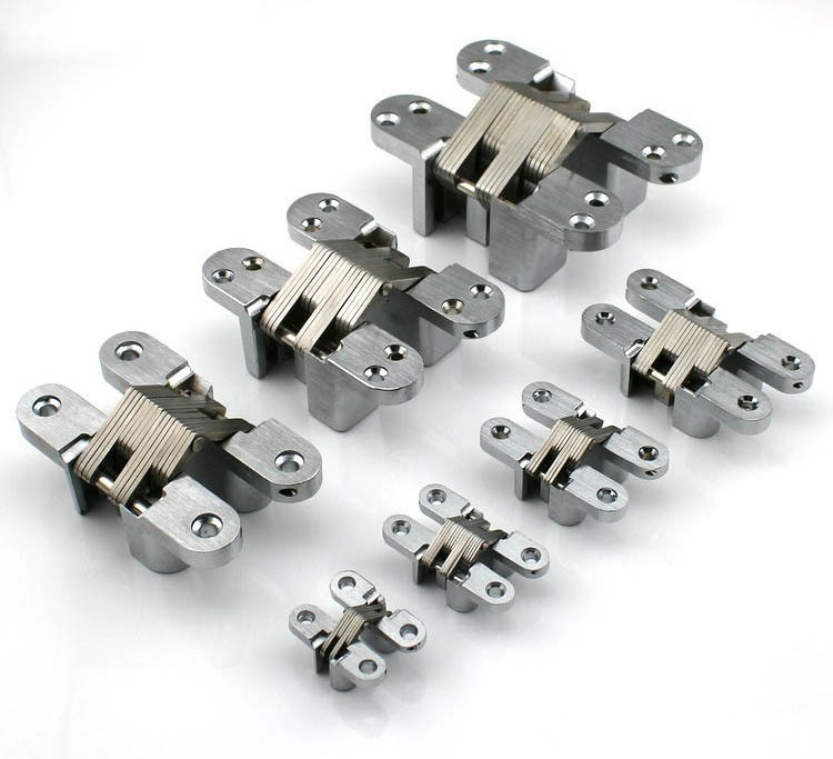 Security Gated Stainless Steel Hidden Cross Door Hinges CSL-07(China (Mainland))
