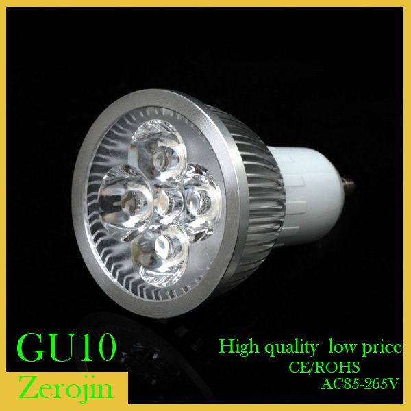 (1)led GU10 4W/5W/12W spotlight AC85~265Vwarm/white led bulb lamp - ZEROGEM LED Lighting Co., LTD store
