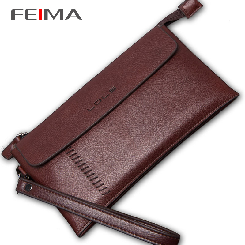 Unique design Famous brand genuine leather bag High quality Business Casual men clutch bag Cowhide handbags Long wallets purses<br><br>Aliexpress