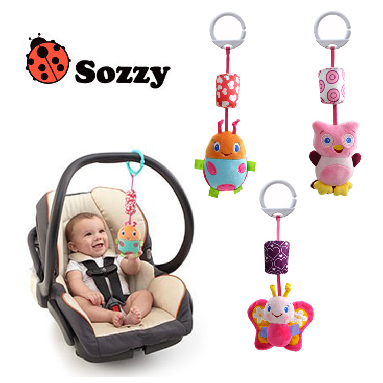 wind chimes hanging bed lathe baby bell ding dong bell car hanging bed hanging plush animal toy doll Bell baby toys(China (Mainland))