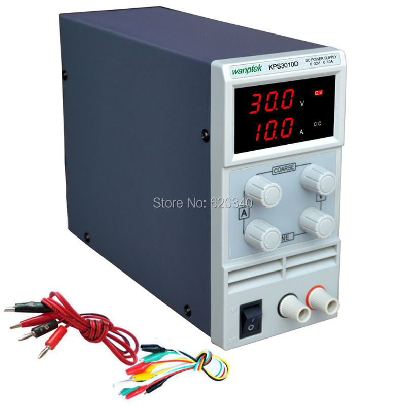 KPS3010D Adjustable High precision double LED display switch DC Power Supply protection function 30V10A 110V-230V Free shipping <br><br>Aliexpress