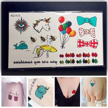 Brand New Sparkle School Children Tattoo Sticker PAQ-X13 Bees Tree Bowknot Waterproof 3d Temporary Tattoo Factory Supplies Price(China (Mainland))