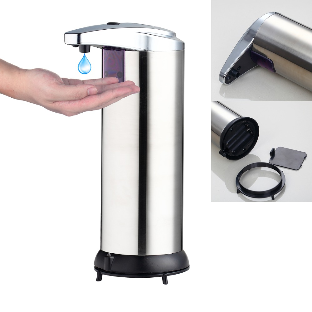 Free Shipping 400ml Automatic Soap Dispenser Touchless Sanitizer Dispenser Sensor Soap Dispenser for Kitchen Bathroom(China (Mainland))