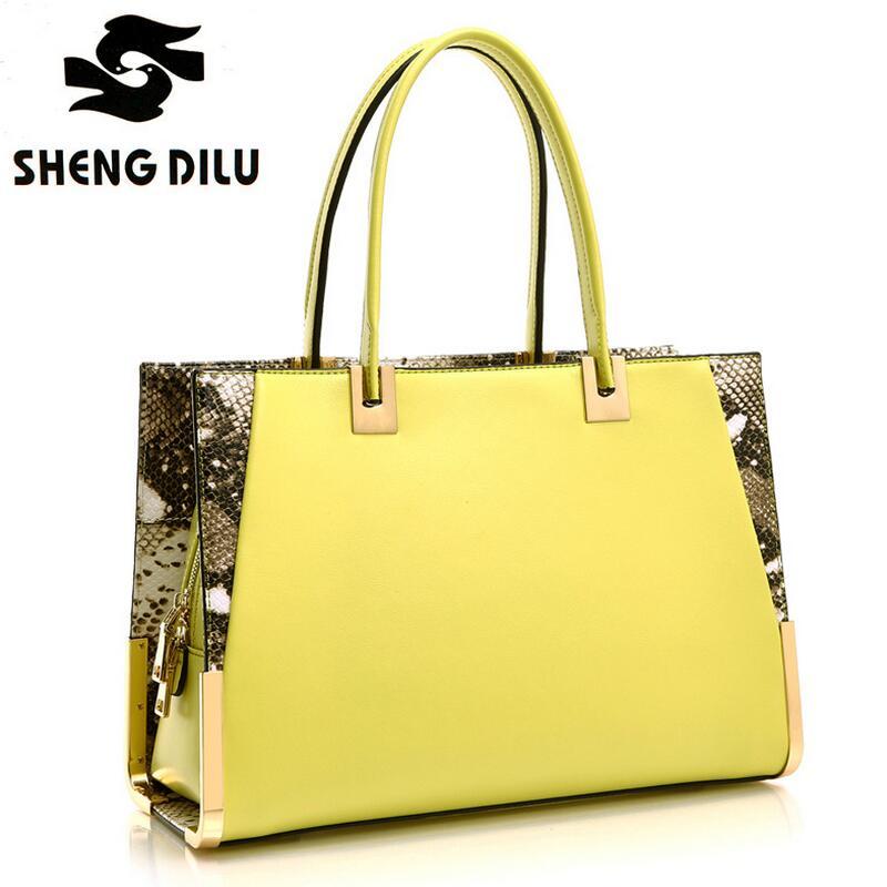 Famous Designer Brand Bags Women Patchwork Serpentine Genuine Leather Handbag Luxury High Quality Shoulder Messenger Bags(China (Mainland))