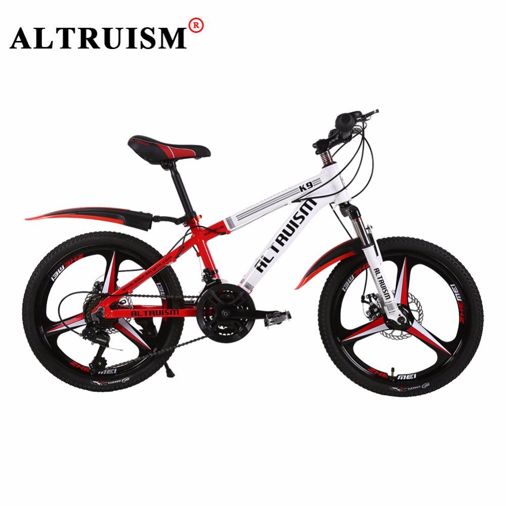 ALTRUISM K9Pro Kid's Bike 21 Speed 20 Inch Bicicleta Double Disc Brake Bisiklet Aluminium Bicycle Boys Girls Mountain Bicycles