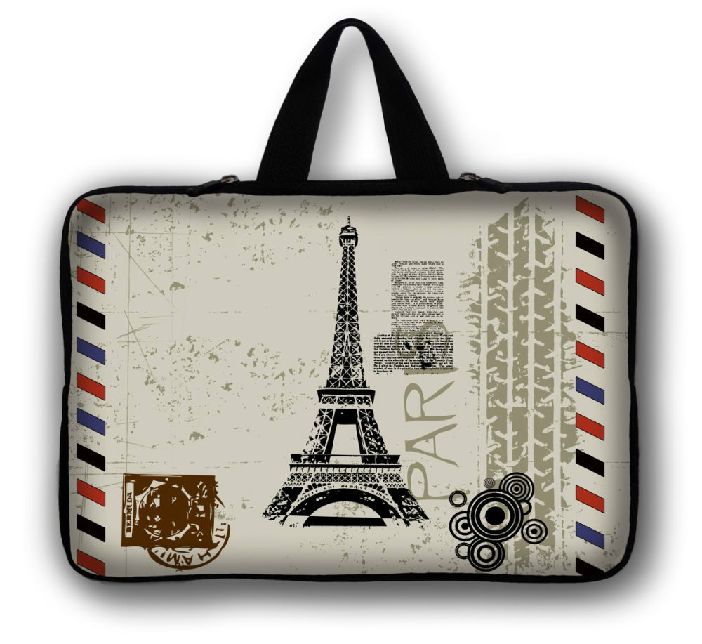 "12"" Eiffel Tower Laptop Soft Carry Sleeve Bag Case For Samsung Google 11.6"" Chromebook,11.6"" Samsung ATIV Smart PC 500T 700T(China (Mainland))"