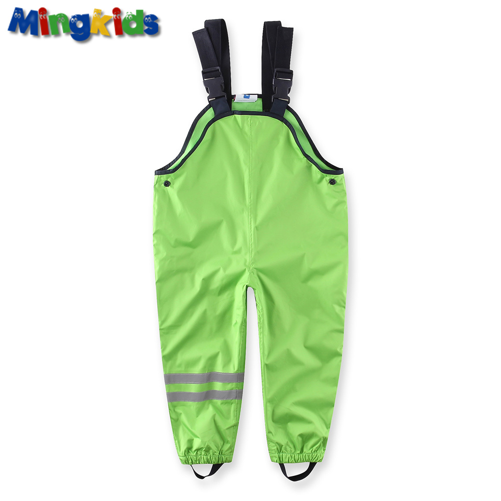 Mingkids Waterproof overall cotton padded trousers boys outdoor pants German quality ski pants rain pants 98-128 European size(China (Mainland))