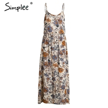 Simplee Vintage summer dress women sundress Hollow out boho floral print maxi dress 2017 beach dress Strappy vestidos de festa(China (Mainland))