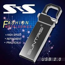 Suntrsi USB Flash Drive Metal Pendrive High Speed USB Stick 32GB Pen Drive Real Capacity 16GB USB Flash Free Shipping(China (Mainland))