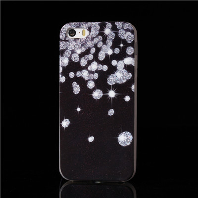 Falling Diamonds Glitter Skin Surface Cover TPU Soft Case For iphone 5 5s Cute IMD Craft Design ases phone c1PC Promotion(China (Mainland))