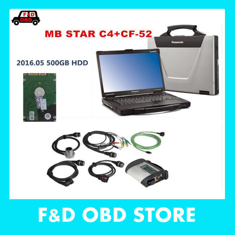 MB Star C4 SD Connect+CF52 4g + HDD 2016.05 Xentry Diagnostics System Compact 4 Mercedes Diagnosis Multiplexer For Benz Diagnose(China (Mainland))