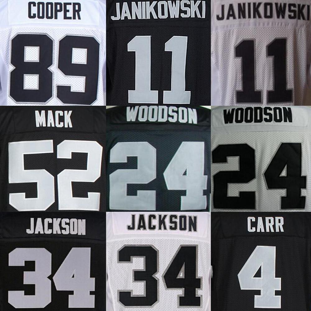 Amari Cooper Jersey, Derek Carr Jersey, Charles Woodson Khalil Mack Sebastian Janikowski Bo Jackson Jersey(China (Mainland))