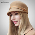 Fashion Visor With Bow 100 Australian Wool Cap Purple Black Wine Red Khaki Womens Visors Knight