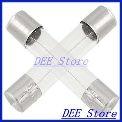 100 x 250V 3 Amp Fast Blow Type Glass Tube Fuses 6 x 30mm