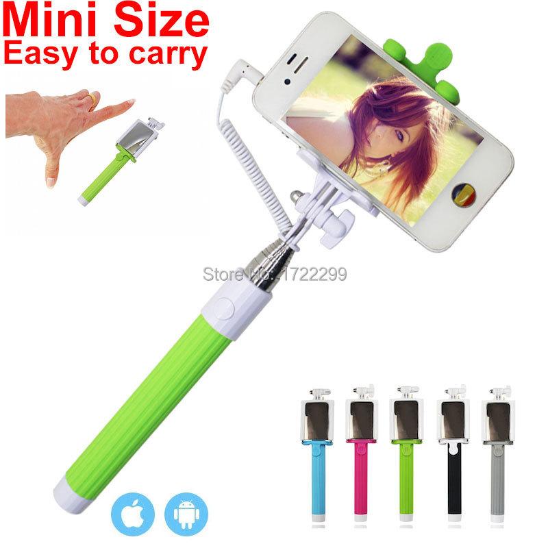 2015 mini wired audio cable selfie stick ts 208 tripod monopod light palo selfie rearview mirror. Black Bedroom Furniture Sets. Home Design Ideas