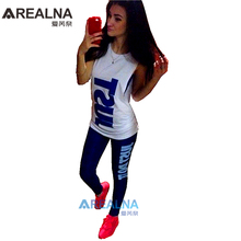 2016 summer harajuku jogging suits women sport suit set JUST DO IT printed women's tracksuits tops+pants +tanks 3 colors