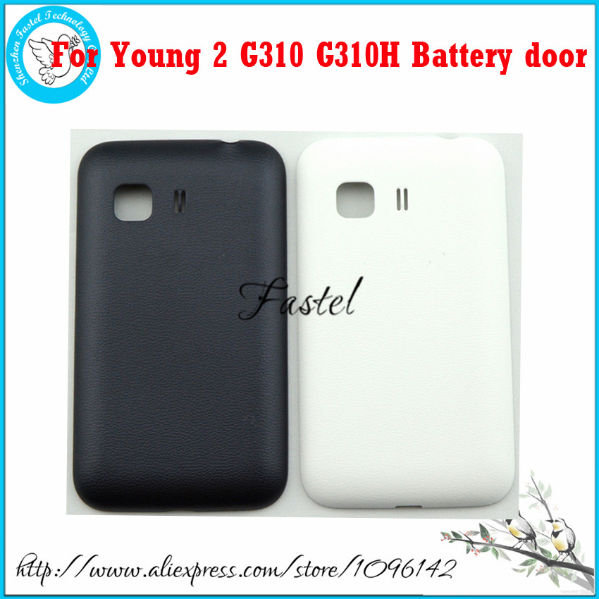 For Samsung Galaxy Young 2 G130 G130H New Original Phone housing cover case Back Battery door cover + Free shipping(China (Mainland))