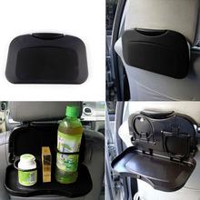 New 1pcs Folding Auto Car Back Seat Table Drink Food Cup Tray Holder Stand Desk hot selling(China (Mainland))