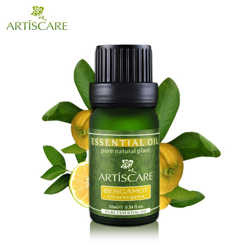 ARTISCARE 100% Pure Bergamot Essential Oil 10ml Clear Skin and Oil Control Facial Care Perfume DIY Face Cleaner Beauty Essence(China (Mainland))