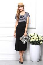 Новый 2015 мода черный красный длинные платья бака полная длина одежда для пляжа платье длиной до пола платье лето макси платье