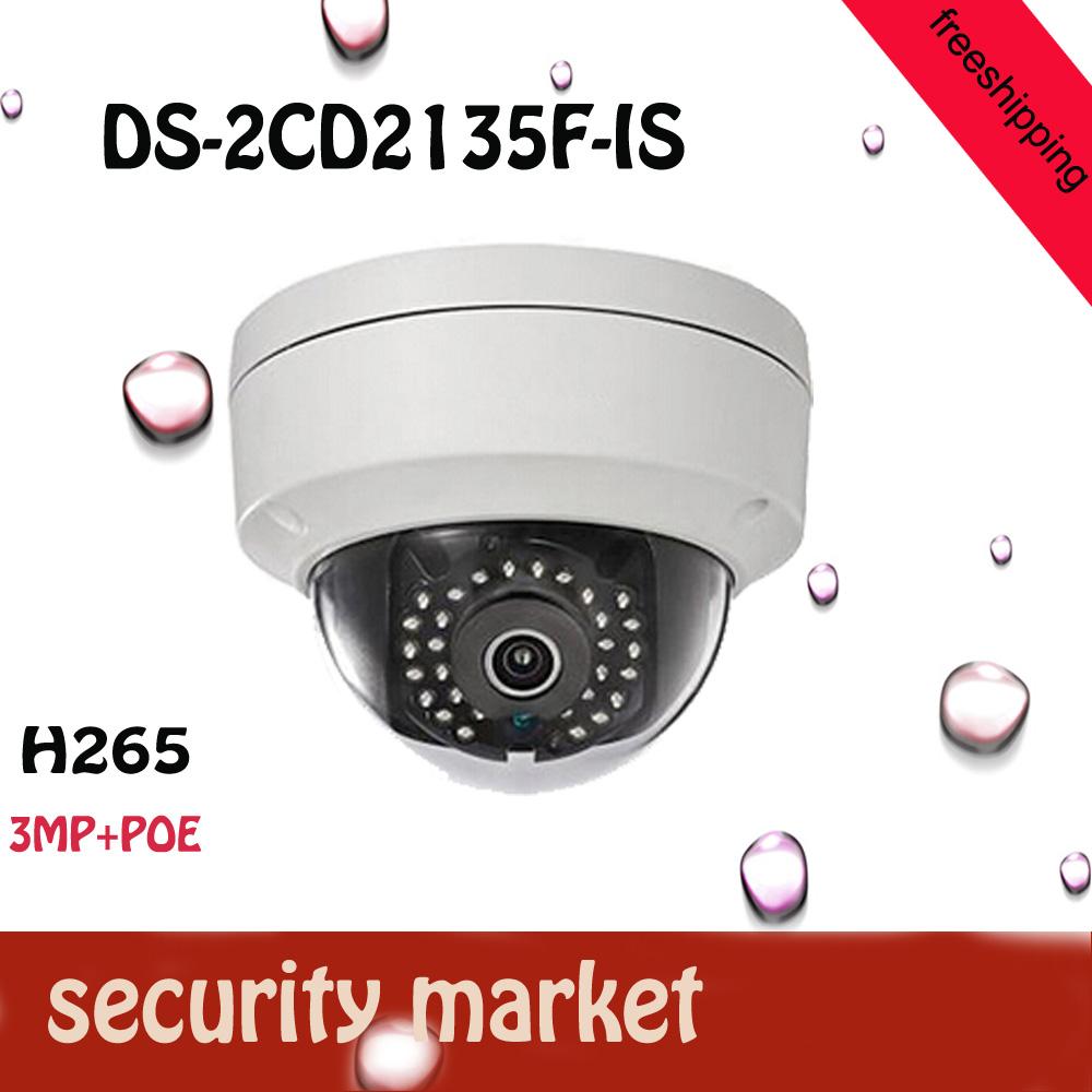 Freeshipping 2016 HOT DS-2CD2135F-IS cctv camera 1080P Audio Alarm I/O POE IP camera TF Card Slot<br><br>Aliexpress