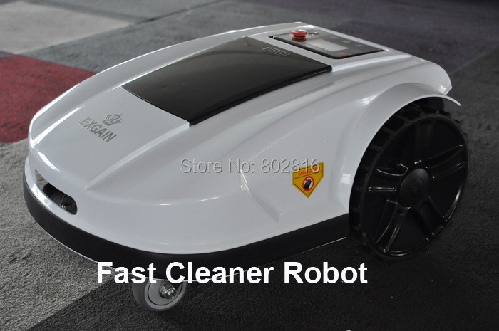 White Color 2015 4th Generation Robot Grass Cutter S520 with Touch Sensor,Rain Sensor,Water-Proof,Electronic Compass, Password(China (Mainland))