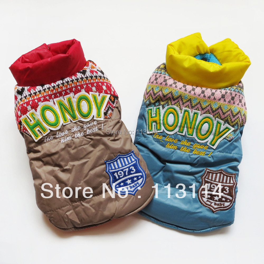 Red /Blue Warm Dog Coat Jacket Snowsuits Pet Apparel Dog Clothes XS/ S/ M/ L/ XL/ XXL FREE SHIPPING(China (Mainland))