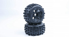 Buy Baja spare parts 5B knobby tyres inside cloth waste land tire wheel + upgraded waterproof foam 95255 HPI baja KM Rovan for $67.00 in AliExpress store