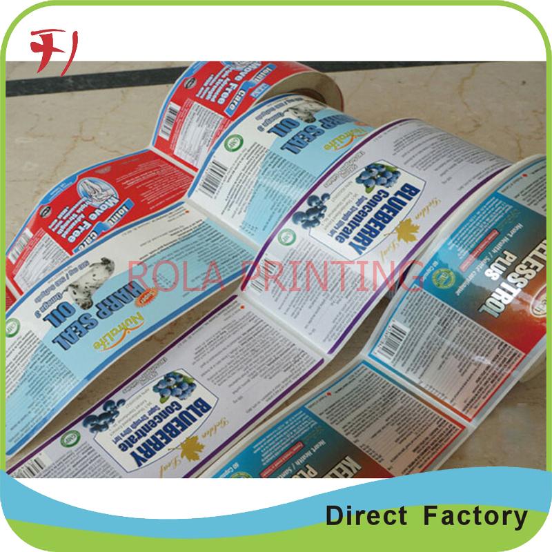 Customized Custom Adhesive Waterproof Round Stickers,Fruit Vegetable Label,High Quality Custom Self Adhesive Logo Label(China (Mainland))