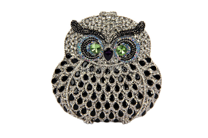 Fashion Owl Animal Shape Rhinestones Clutch Bags Designer Evening Bag Wedding Party Purse Luxury B001# - Besthing International Trade Co., Ltd. store