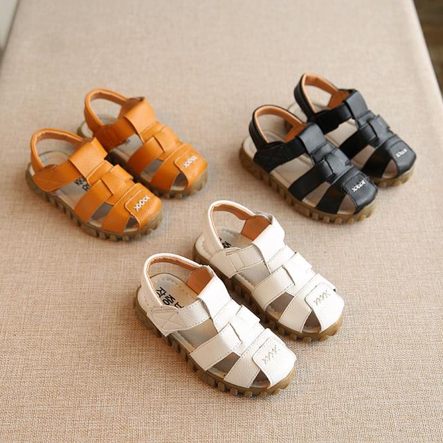 2016 лето новинка детские сандалии мальчиков сандалии детские сандалии детские пляжная обувь белый черный мальчиков обувь