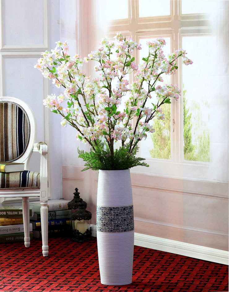 Top grade artificial silk apple/plum/sakura flowers,3 branches,high 130cm,artificial silk flowers,wedding flowers, free shipping(China (Mainland))