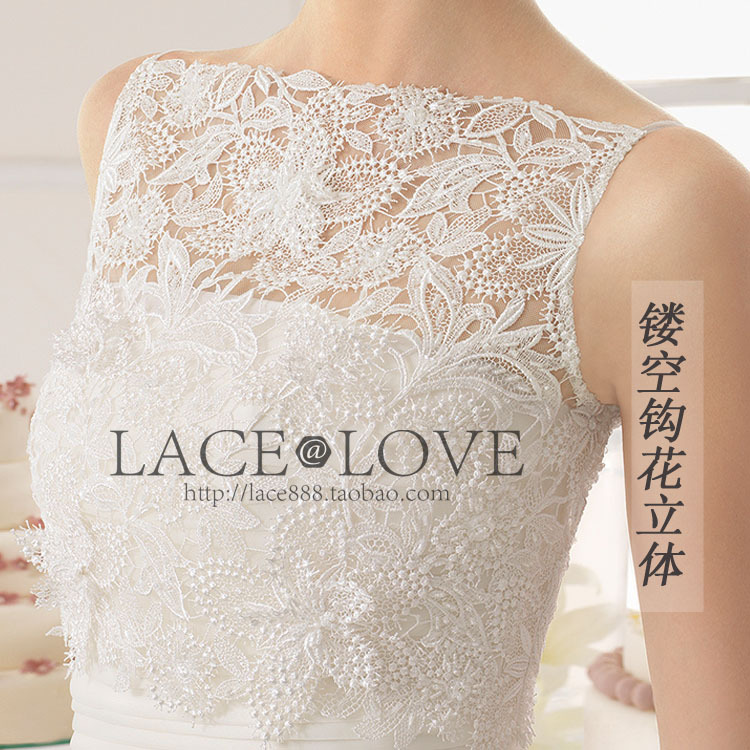 Free shipping High Quality 3D Water-soluble Crochet Cutout Lace Fabric high quality floral lace fabric RS630(China (Mainland))