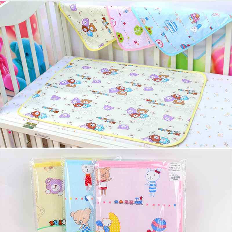 Baby Girl Boys Child Cotton Soft Cute Urine Pad Infant Diaper Waterproof Bedding Changing Cover Pad For Baby