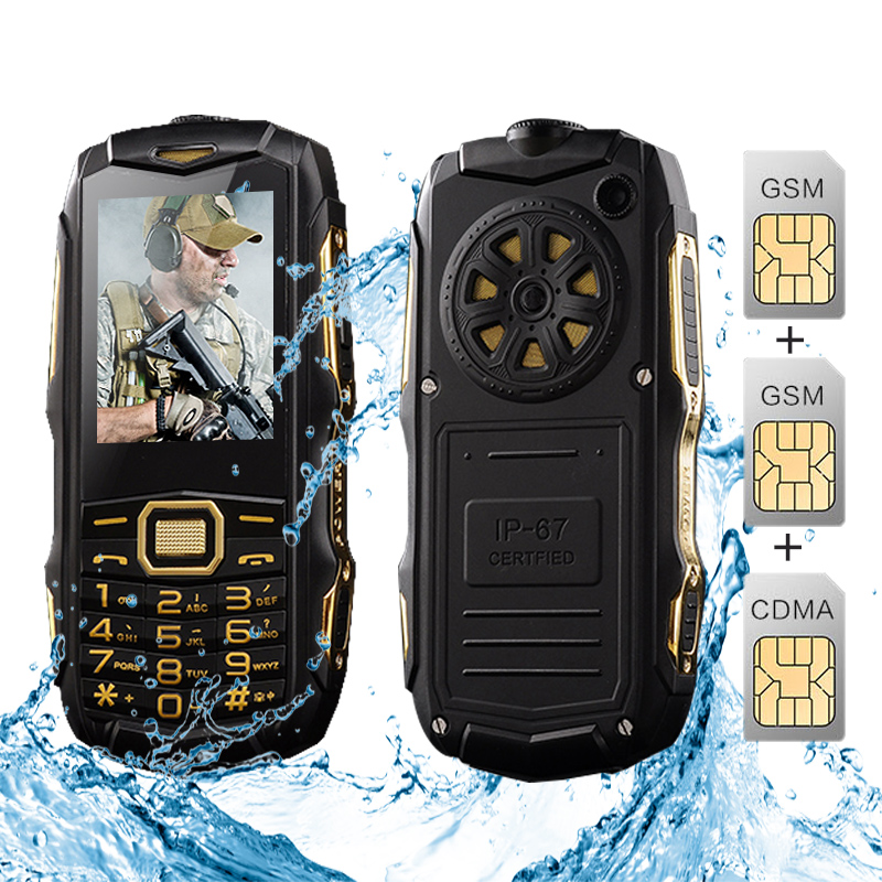 SUPPU Y809 8800mAh Three SIM Cards dual-bands GSM CDMA IP67 waterproof FM MP3 flashlight power bank rugged mobile phone P071(China (Mainland))