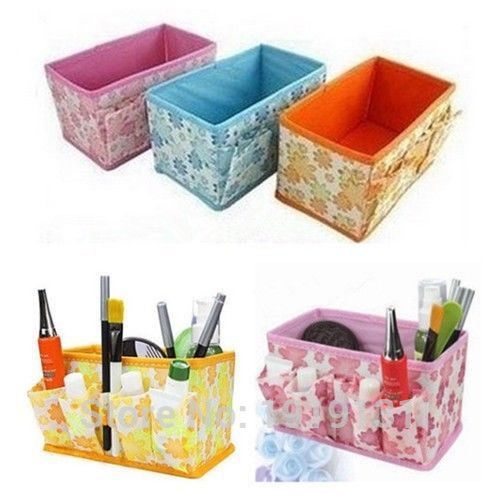 1Pcs Multifunction Beauty Flower Folding Multifunction Makeup Cosmetic Storage Box Container Case Organizer(China (Mainland))