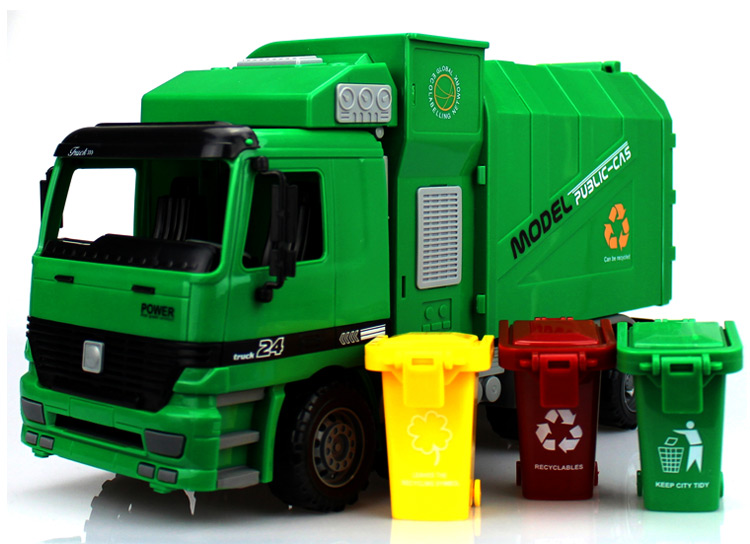 Big Size Jumbo Children's Large Man Side Loading Garbage Truck Can Be Lifted With 3 Rubbish Bin Toy Car Wholesale(China (Mainland))