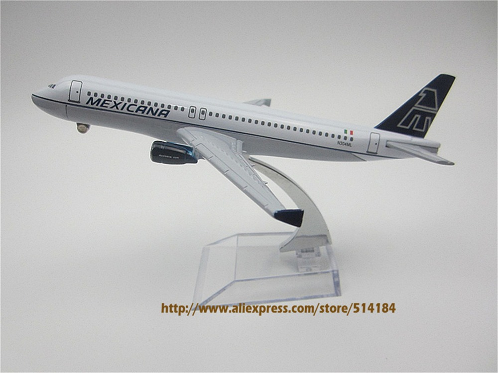 16cm Metal Plane Model Air MEXICANA A320 Airlines Airbus 320 Airways Aircraft Airplane Model w Stand Craft Gift(China (Mainland))