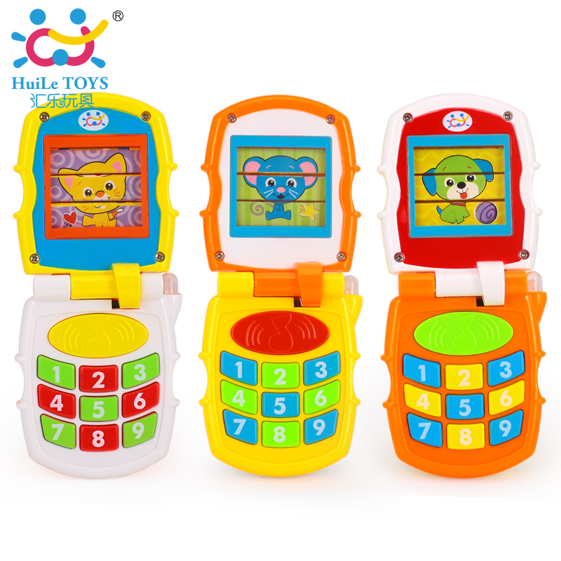 Baby Kids Learning Study Musical Sound Cell Phone Children Educational Toys Musical Instrument Huile Toys 766 Gift Free Shipping(China (Mainland))
