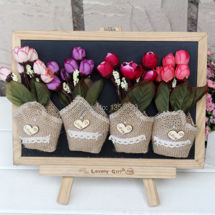 Free Shipping 6pcs Natural Burlap Fridge Magnet Jute Blackboard Magent Vintage Chic Home Decoration Rustic Home Decor Supplies