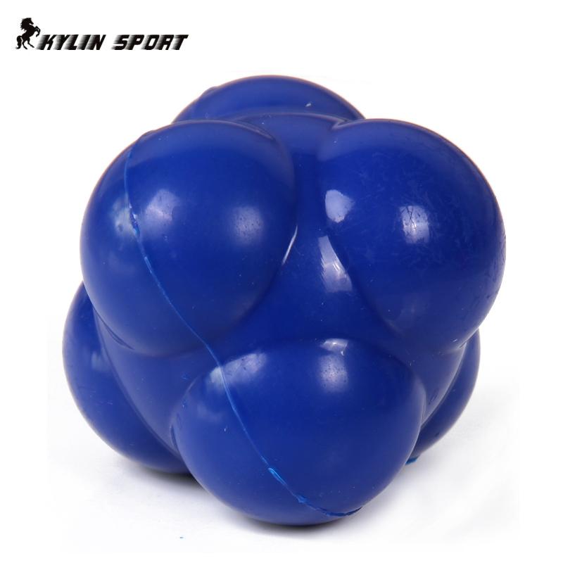 Fitness hexagonal reaction ball sensitive ball tennis ball badminton reaction speed agility training ball Workout equipment(China (Mainland))
