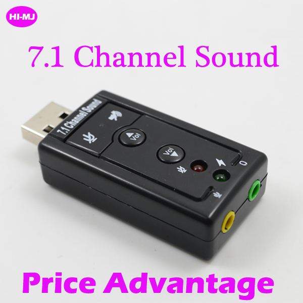 Hot Sale USB to 3D Audio USB Sound Card Adapter 7.1 Channel Sound Professional Headset Microphone 3.5mm Jack Converter(China (Mainland))
