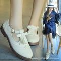 2016 Autumn British wind restroing women tassel casual shoes