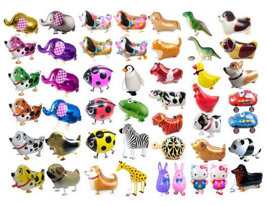 Hot Selling Foil Balloon Walking Animal Farm Pet Elephant Cat Frog Duck Dog Cow balon Christmas Gift Children Birthday Party(China (Mainland))