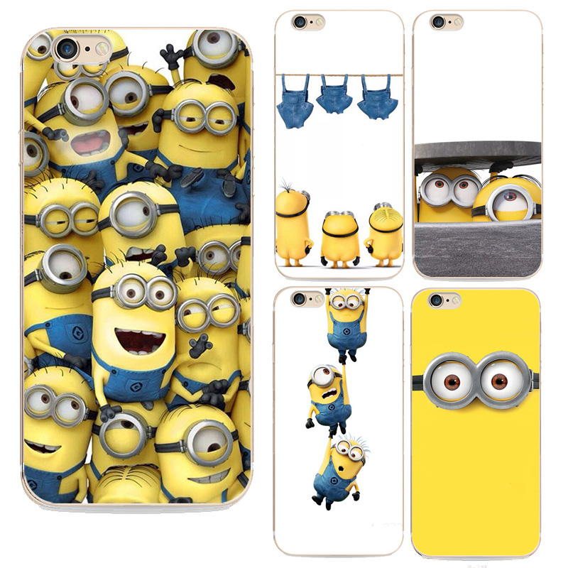 i6 4.7 Despicable Me Soft Silicon Case For Iphone 6 6s Cover Yellow Minion Design Cases Capa(China (Mainland))