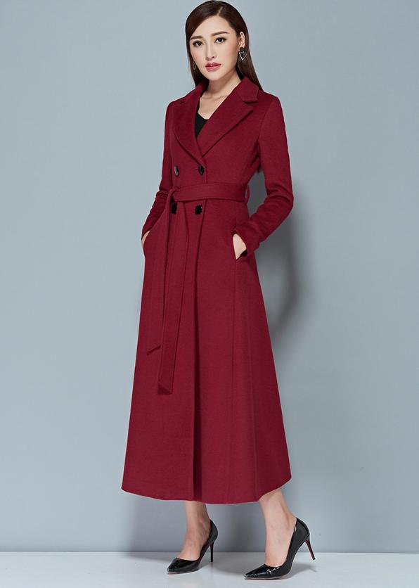 2016 New Elegant Lady Long Cashmere Coat Female European Styel Warm Autumn Winter Wool Women Jacket Coat Casaco Feminino