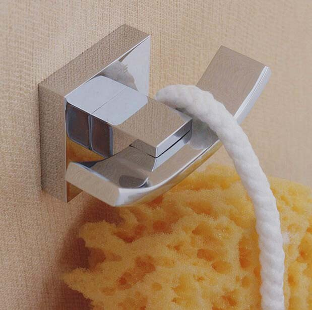 High quality contemporary wall mounted towel robe hook wall hanger for keys hats coat hooks bathroom accessories(China (Mainland))